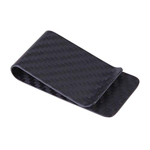 Echt Carbon Faser Geld Clip matt schwarz Kreditkarte Geld Brieftasche