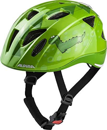 Alpina Jungen XIMO Flash Fahrradhelm, Green Dino, 49-54 cm