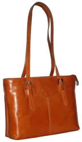 Italienisches Leder handgefertigt lange behandelt Doppel Schnalle Schultertasche Handtasche.Umfasst eine Marke schützenden Aufbewahrungstasche. Tan