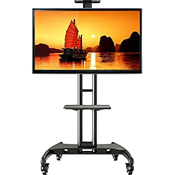 wermax ava1500b schwarz standfu mobil fahrbar tv st nder trolley 32 65 zoll kamera ablagen. Black Bedroom Furniture Sets. Home Design Ideas