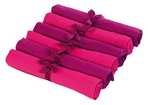 Contento 679420 servilletas de tela Jette conjunto de 6, morado