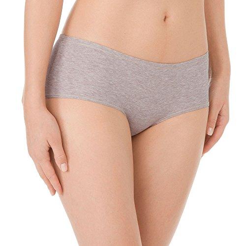 Calida Damen Panties Panty low cut Mood, Einfarbig Braun (autumn bark melé 887)