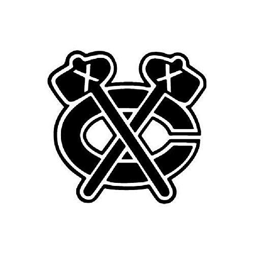 Celycasy Chicago Blackhawks Vinyl-Autoaufkleber Yeti Aufkleber Tumbler Aufkleber Laptop Fenster Aufkleber -