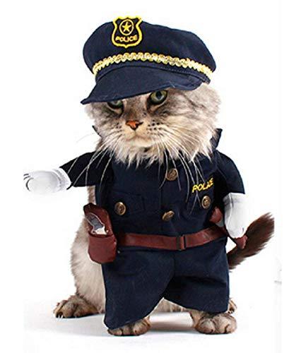 Inception Pro Infinite Kostüm - Verkleidung - Police - Polizei - Strafverfolgung - Carabinieri - Katze (XL) (Polizei Katze Kostüm)