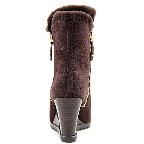 Michael Michael Kors Whitaker Wedge Boot Wildleder Mode-Stiefeletten Coffee