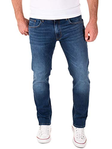 Yazubi Jeans Herren Akon Slim - Jeans Hosen für Männer - dunkel Blaue Denim Stretch Hose Jeanshose Regular, Blau (Dark Denim 194118), W31/L32