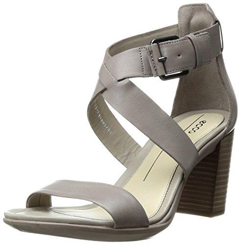 Ecco Damen Shape 65 Block Sandal Offene  toe sandalen , Grau (1459MOON Rock), 37 EU