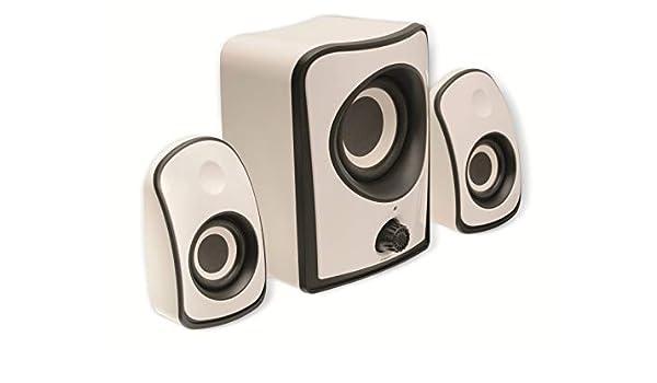 K/önig CS21SPS100WH Lautsprecherset 2.1 wei/ß