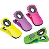 KitchenCraft Chunky Magnetic Bag Clips / Memo Holders - Assorted Colours (Set Of 4)