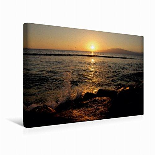 Calvendo Premium Textil-Leinwand 45 cm x 30 cm quer Hafen von Lahaina | Wandbild, Bild auf Keilrahmen, Fertigbild auf echter Leinwand, Leinwanddruck