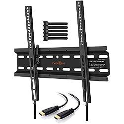 Perlegear Support mural TV Inclinable Pour LED, LCD, OLED, TV à Écran Plat de 23 à 55 Pouces