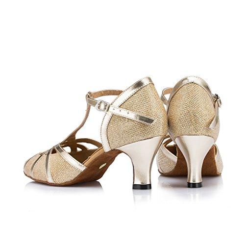 Salsa De De Malha Ouro Salto Sapatos Mulheres De Das Moderna Meijili Dança Tango Ballrom Alto Latina qzpSwtA