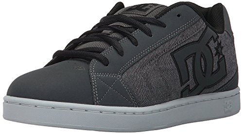 DC Net SE Grey White Mens Suede Skate Trainers Shoes-7 (Skate Net Se Schuh)