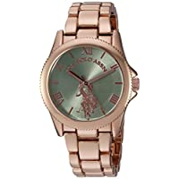 U.S. Polo Assn. Women's Quartz Metal and Alloy Casual Watch, Color:Rose Gold-Toned (Model: USC40039)