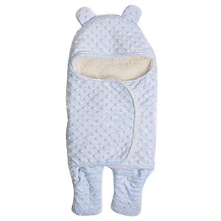 Happy Cherry Arrullo Mantita Envolvente con Estampado y Felpa Saco de Dormir Swaddle Blanket para Bebés Recién Nacidos 0 – 3 Meses