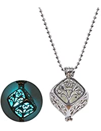 Young & Forever Trendsetter Glow-In-The-Dark Enchanting Cube 925 Silver Pendant For Women Girls