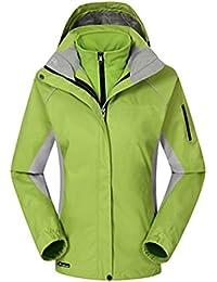 ZKOO Chaqueta de Esquí Mujeres 2 Capas Fleece Softshell Impermeable Resistente al Viento Chaqueta con Capucha Al Aire Libre Senderismo Jacket