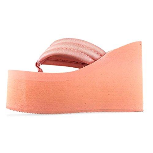 SHANGXIAN l'augmentation de la glissade des femmes flops Sandales compensées Black