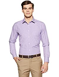 Park Avenue Men's Checkered Slim Fit Formal Shirt