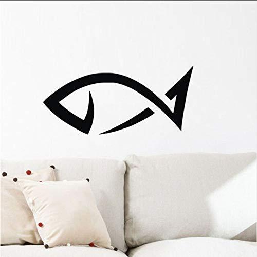 mmwin Fisch Wandaufkleber Für Zuhause Ornamente Wasserdichte Badezimmer Wandtattoos Vinyl Angeln Wandbilder Für Wand 27X59 cm