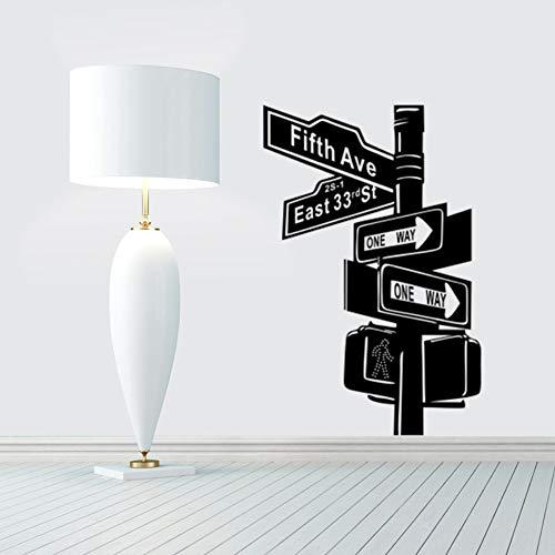 Schwarz Ampel Zeichen Wandaufkleber Kreuzung Zeigt Zeichen Kreative Schlafzimmer Wohnzimmer Wohnkultur Selbstklebende Aufkleber
