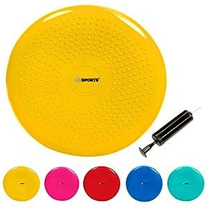 ScSPORTS Ballsitzkissen mit Pumpe, Rücken- & Koordinationstraining, Balancekissen für Pilates, Ø 34 cm, versch. Farben
