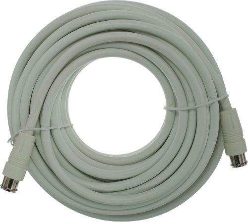 SAT-Anschlusskabel – 2x geschirmt – 2x F-Quick Stecker –>80dB – weiß – 15m - 2