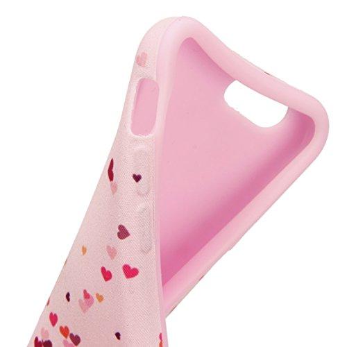 iPhone 6S Plus Hülle, iPhone 6 Plus Hülle, iPhone 6 Plus/ 6S Plus Silikon hülle Tasche mit Schimmel Malerei Muster, SainCat Protective Silikon Hülle Case Tasche Handyhülle [Kratzfeste, Scratch-Resista Pink Love