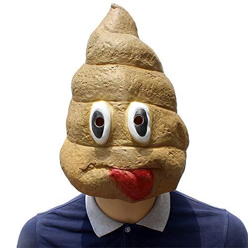 tige Kopfbedeckung Maske Latex Halloween Kostüm Maske Cosplay kreative Requisiten Maskerade Party Erwachsene Maske,Yellow-32 * 34 * 32CM ()