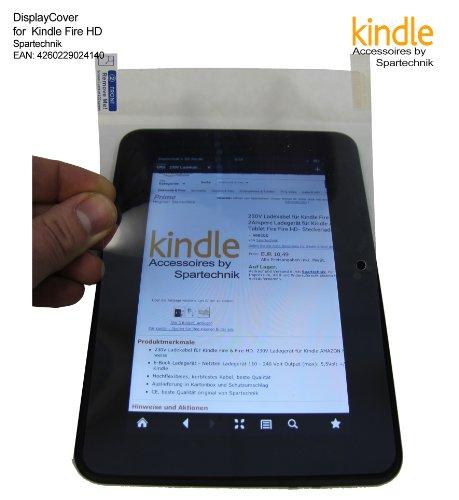 Spartechnik Fullscreen Adhäsion Folie für Kindle Fire HD : 1 Displayfolie für Touchscreen Display 13 x 18,5 cm mit Aussparung für Kamera - für Amazon Kindle Fire-HD (Kindle Fire 7 Hd Sichtschutz)