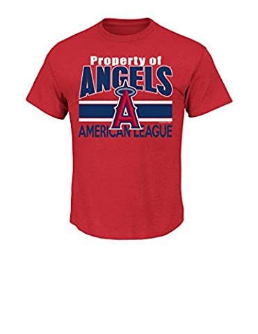 MLB Los Angeles Angels Men's This Is My City Tee, Small, Red Pepper Heather