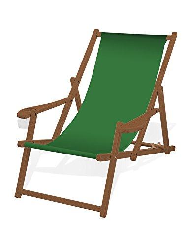 holz-liegestuhl-mit-armlehne-und-getrankehalter-klappbar-mit-dunkelbrauner-lasur-wechselbezug-grasgr