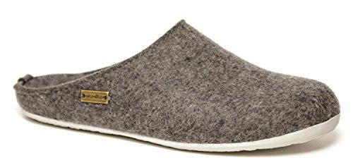 Pantofole HAFLINGER Fundus art. 481024304 in lana cotta Grigio