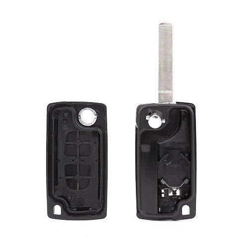 2 Boton Carcasa del mando V2 para PEUGEOT 206 107 207 307 407 CITROEN C2 C3 C4 C5 C6