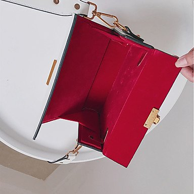 SUNNY KEY-Borsa a tracolla @ Donna Borsa a tracolla PU (Poliuretano) Per tutte le stagioni Casual Baguette A calamita Bianco Nero Rosso , red black