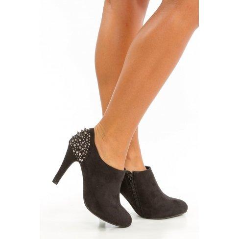 Princesse boutique - Bottines noire à clous Noir