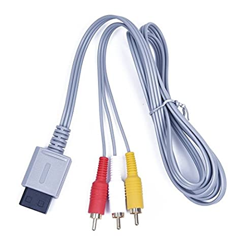 Childhood 1.8M Audio Video AV RCA Video Composite Cable Cord For Wii Console