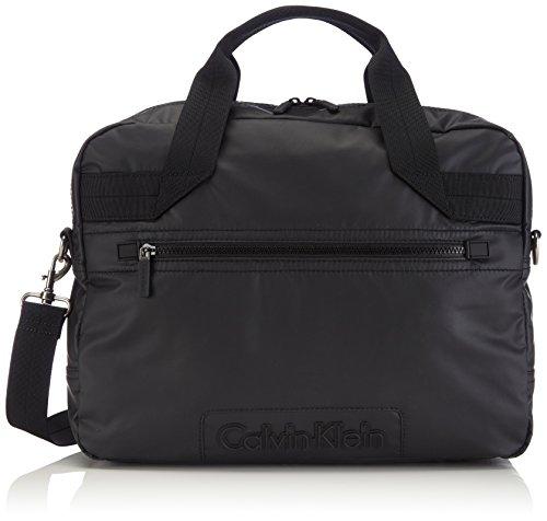 Calvin Klein Jeans METRO LAPTOP BAG J5EJ500489 Herren Henkeltaschen 40x27x11 cm (B x H x T), Schwarz (BLACK 990) (Laptop-tasche Metro)