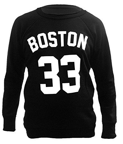 Übergrößen, Gr. 33, Boston Printed Sweat Shirts, Tops, Gr. Schwarz - Schwarz