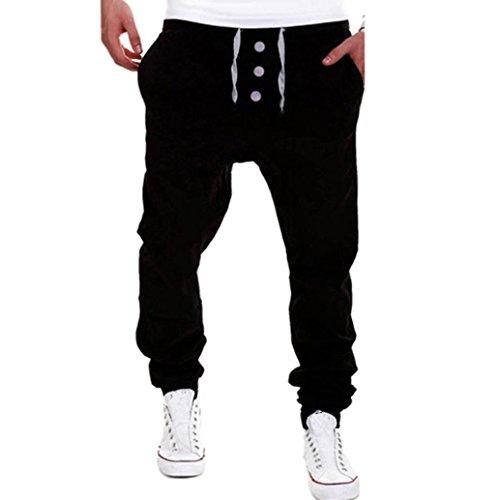 Paolian Seuil de personnalité des Hommes Trois Boutons Décontractés Pantalons de Sport élastique en Plein air, Mode Décontracté Pantalons Décontractés Marée Hommes doivent