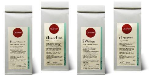Kräutertee Biotee Quertee® Nr. 11 - 4 x 50 g Bio Tee - Wellness Set für Frauen - Ayurveda Tee - Frauentee