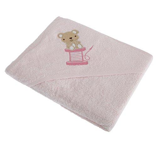 Kuschelweiches Baby Handtuch mit Kapuze (75cm x 75cm) (Pink)