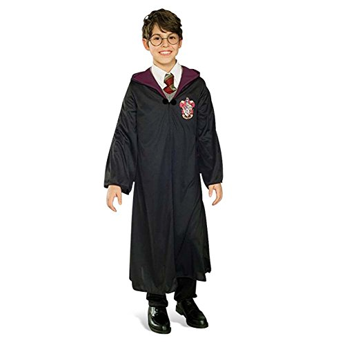 Harry Potter Robe für Kinder, Zauberer Umhang mit Gryffindor Wappen, Kostüm - (Harry Kinder Robe Potter)