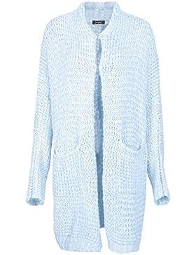 Prendas de vestir de punto flojo novio Simplee mujeres cable grueso Cardigan largo chaqueta Outwear