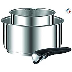 Tefal - L9408802 - Ingenio Preference Set de 2 Casseroles 16/20 Cm Inox + Poignée Amovible Tous Feux Dont Induction