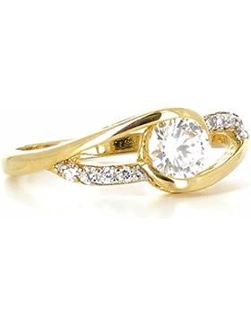 ISADY - Sienna Gold - Damen Ring - 18 Karat (750) Gelbgold platiert - Zirkonia