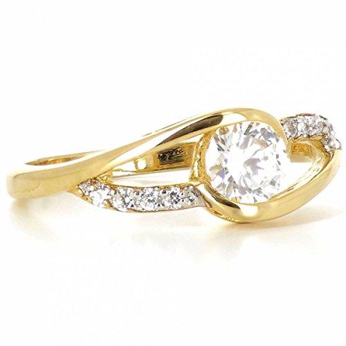 ISADY - Sienna Gold - Damen Ring - 18 Karat (750) Gelbgold - Zirkonia