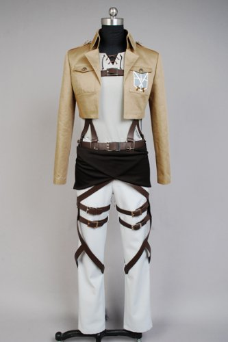 Attack on Titan Eren Jaeger Cosplay Kostüm-Female S (Aot Cosplay Kostüm)