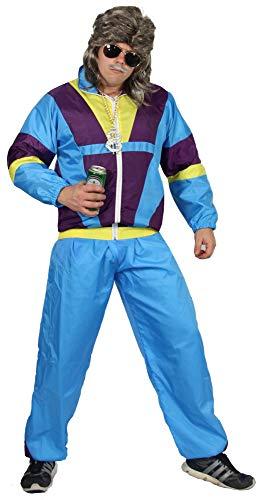 Kostüm Sportler - Foxxeo Premium 80er Jahre Kostüm für Erwachsene Trainingsanzug Assianzug Assi Gr. S - XXXL Größe XXXL