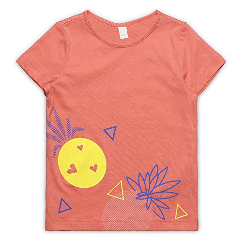 ESPRIT KIDS Mädchen SS T-Shirt, Rosa (Coral 323), (Herstellergröße: 92+)